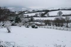C. Tickner:  Wootton Courtenay in snow